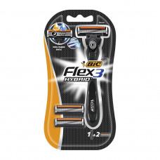 Станок Bic Flex 3 HYBRID (станок + 2 кассеты)
